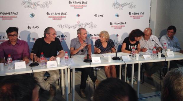 La alcaldesa de Madrid, Manuela Carmena, en la presentaciónd el festival internacional de cine de la Cañada Real