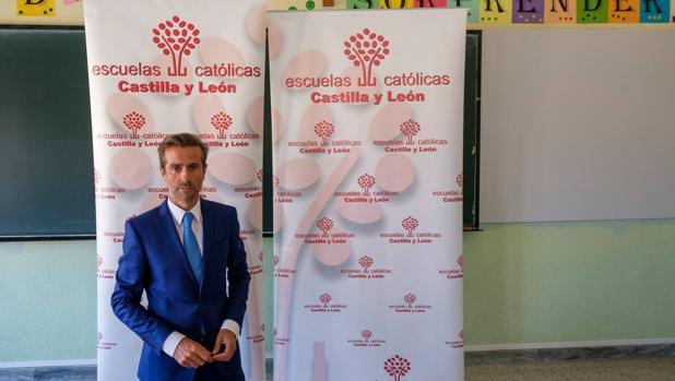 El secretario autonómico de Escuelas Católicas Castilla y León, Leandro Roldán Maza,