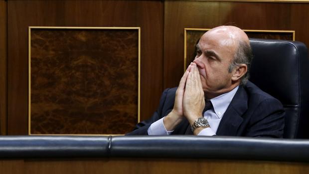 Luis de Guindos, en el Congreso de los Diputados