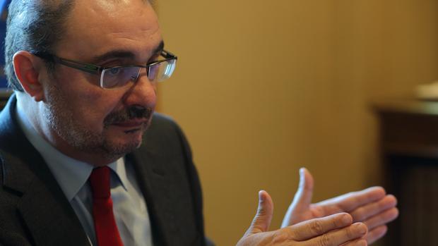 Javier Lambán , líder del PSOE aragonés y presidente regional