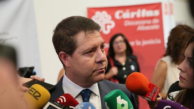 García-Page, este lunes en Albacete durante un acto