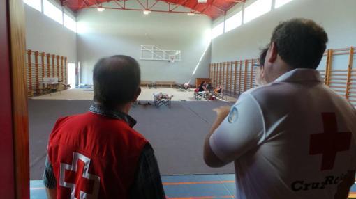 Imagen del albergue de Cruz Roja habilitado en Jávea