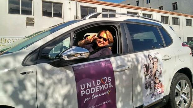 Meri Pita en una caravana electoral el pasado mes de junio