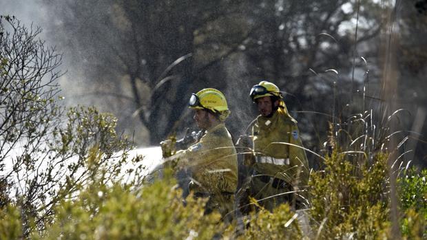 Cuerpos de seguridad luchan contra el fuego