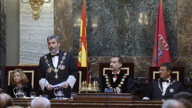 Carlos Lesmes, presidente del Tribunal Supremo y del Consejo del Poder Judicial en su intervención