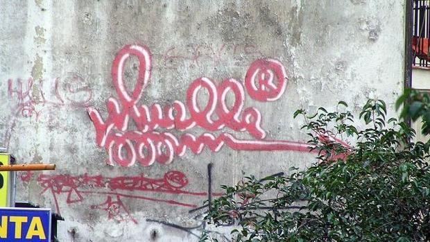 Montera es la calle de Madrid donde se conserva la última firma del popular grafitero «Muelle»