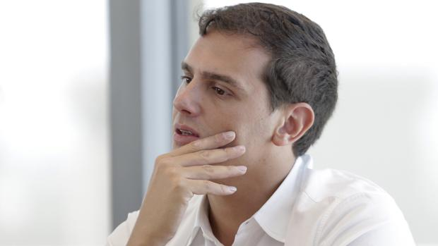 El presidente de Ciudadanos, Albert Rivera, durante la reunión que la Ejecutiva Nacional del partido