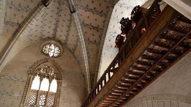 Interior de la iglesia mudéjar de Santa María de Tobed