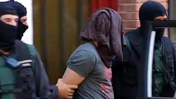 Detención el pasado julio en Gerona de un marroquí vinculado al Daesh.