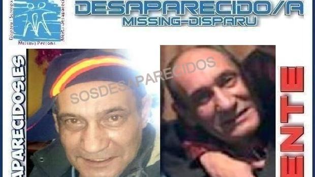 Cartel con la información sobre el desaparecido en Alcobendas, difundido en Twitter