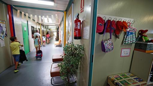 Imagen del interior de los barracones