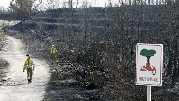 Imagen de los efectos del incendio de Jávea y Benitatxell