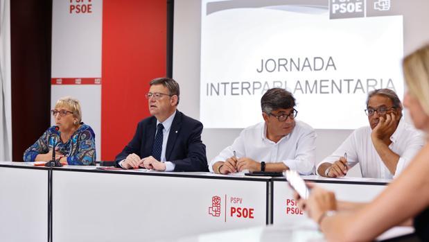 Imagen de la interparlamentaria celebrada este miércoles por el PSPV