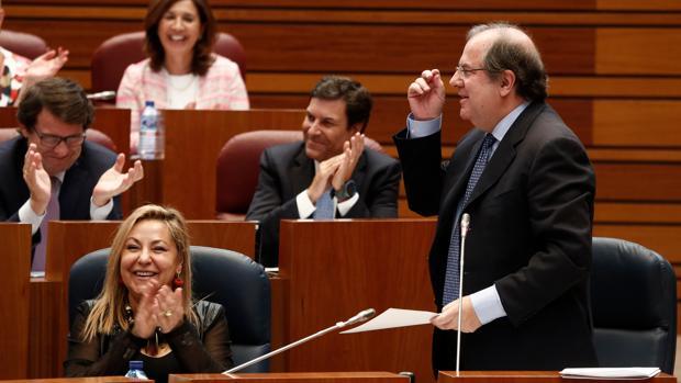 El presidente Herrera durante una de sus intervenciones en el pleno de este martes