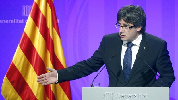 El presidente Puigdemont, en una imagen de archivo