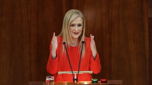 Cifuentes, Gabilondo y López, ayer en la Asamblea