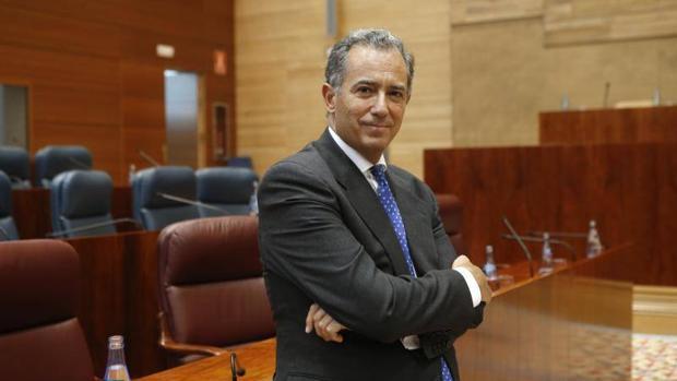 El diputado del PP Enrique Ossorio en la Asamblea de Madrid