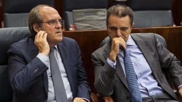 Ángel Gabilondo y José Manuel Franco en el Debate sobre el estado de la Región