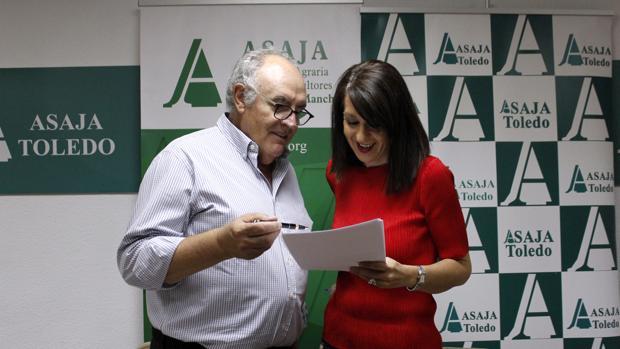 José María Fresneda y Blanca Corroto, vicesecretaria regional de Asaja