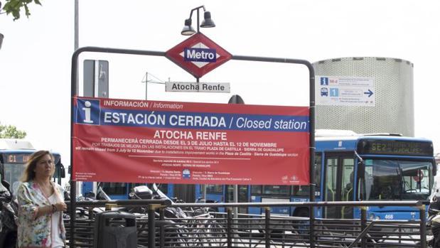 Una de las estaciones de la Línea 1 de Metro Madrid, en obras