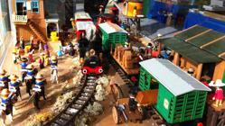 Una maqueta del oeste con Playmobil