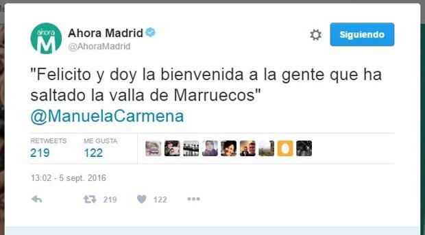 El tuit de Carmena que revolucionó a los madrileños en Twitter