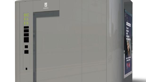 Representación de uno de los nuevos urinarios públicos de Madrid