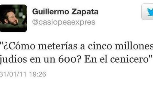 Tweet de Zapata en el año 2011