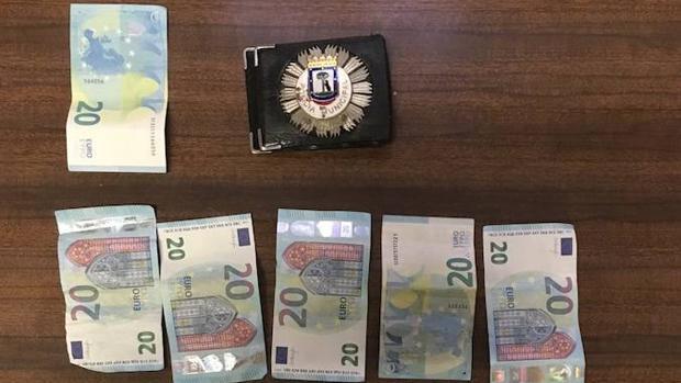 Los billetes incautados en la operación