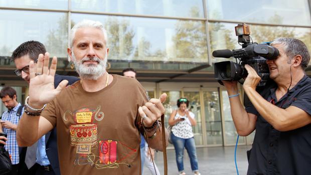 Marcos Benavent, este jueves a su salida de los juzgados