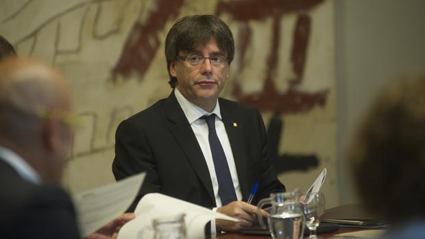 Carles Puigdemont, presidenta de la Generalitat, en la Ejecutiva del Govern de Cataluña