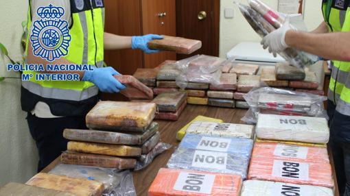 Material incautado en la operación policial
