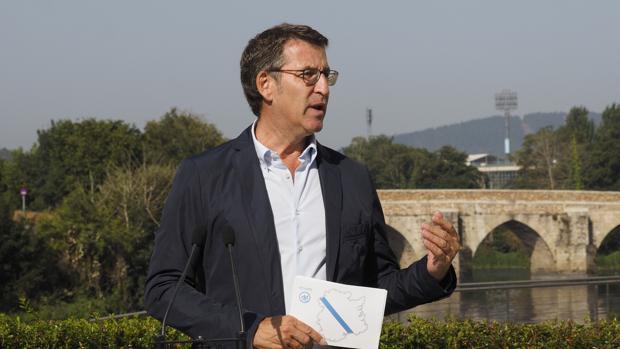 El candidato del PP a la presidencia de la Xunta, Alberto Núñez Feijóo
