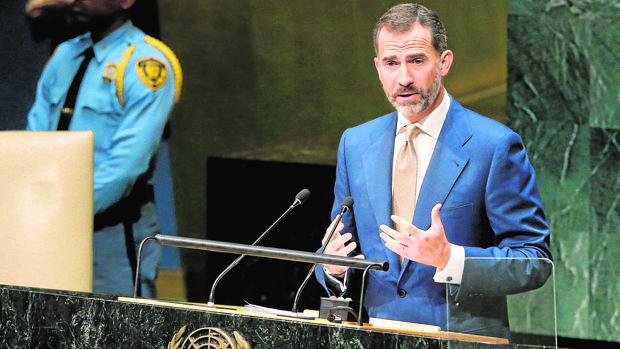 El Rey Felipe VI en una Asmablea General de la ONU