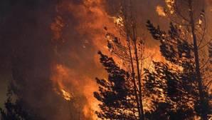 Declarado un incendio forestal en un área cercana a viviendas en Lugo