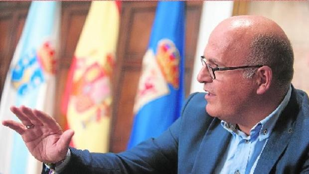 Manuel Baltar, en un momento de la charla mantenida con ABC