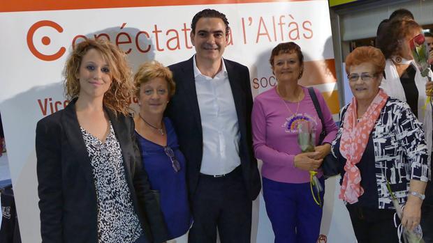 Arques durante un acto de la última campaña electoral en Alfaz del Pi.