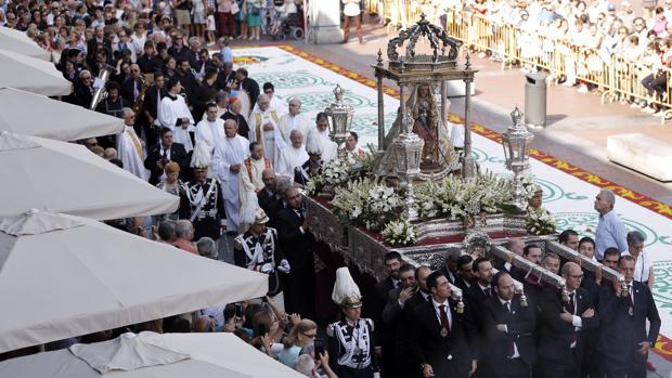 Procesión de la Virgen de San Lorenzo, en Valladolid