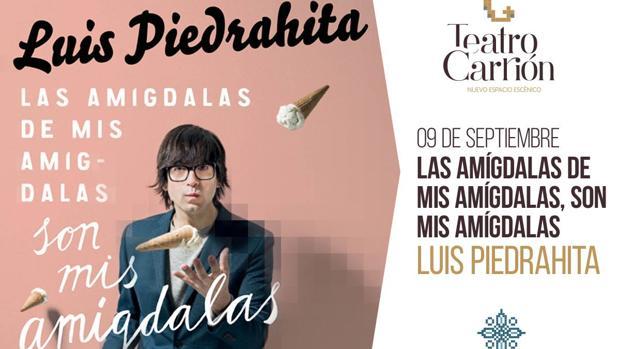 Cartel de la única función de Luis Piedrahita en Valladolid