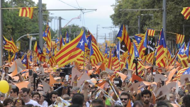Una imagen de la Diada de 2015, en Barcelona