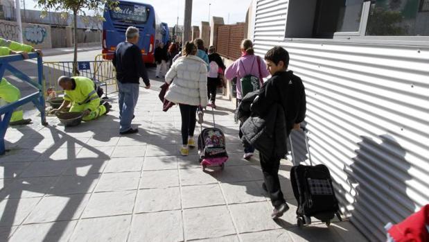 Escolares en un colegio de Alicante