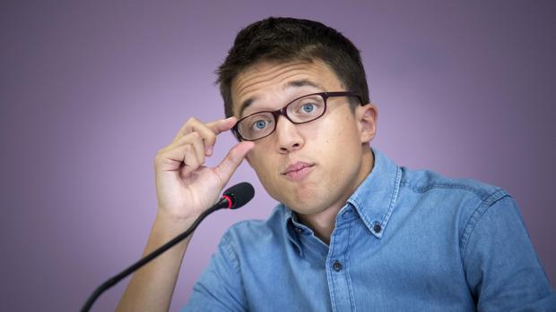 El número dos de Podemos, Íñigo Errejón, durante la presentación este viernes