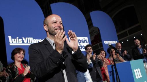 Luís Villares durante el arranque de campaña de En Marea en Lugo