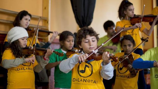 """Niños participantes en """"Da la nota"""""""