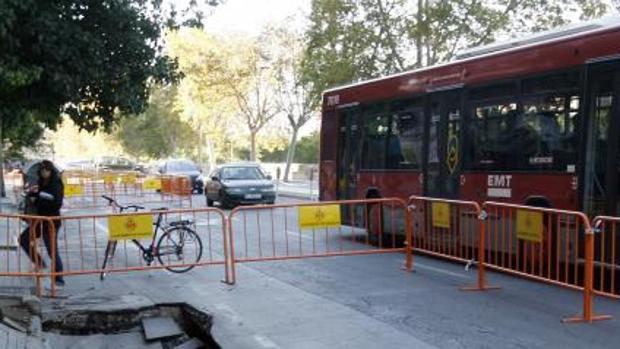 Paseo de la Petxina, en Valencian, donde ha sido localizado el detenido con su hijo