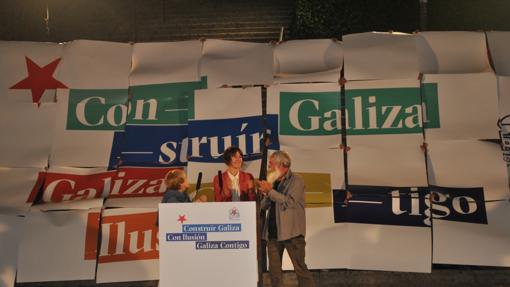 Los nacionalistas con Pontón al frente eligieron La Coruña para arrancar la campaña