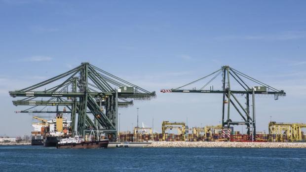 Zona portuaria de Valencia