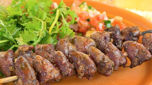 Plato de carne del restaurante Rodizio Via Brasil, en San Vicente del Raspeig