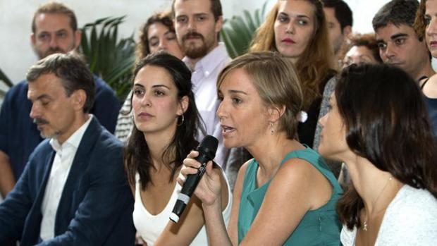 Tania Sánchez y Rita Maestre, durante la presentación de Adelante Podemos