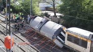 El tramo en el descarriló el tren obligaba a reducir la velocidad a 40km/h